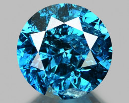0.19 Cts Fancy Vivid Blue Color Natural Loose Diamond