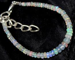 15 Crt Natural Ethiopian Welo Opal Beads Bracelet 172