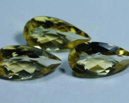 8.70cts 3 Pieces Lemon Quartz Pair