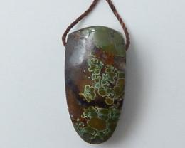 New Turquoise ,Handmade Gemstone ,Turquoise Pendant ,Lucky Stone C286