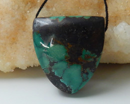 Lucky Turquoise ,Handmade Gemstone ,Turquoise Pendant ,Lucky Stone C291