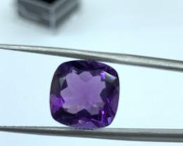 Amethyst Loose Gemstone - 6.35 ct - Precious Stone - Cut Cushion
