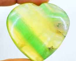 Genuine 270.00 Cts Multicolor Fluorite Heart Shape Cab