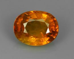 1.90 Cts Natural Intense Beautiful Orange~Yellow Sapphire Oval Madagascar!!
