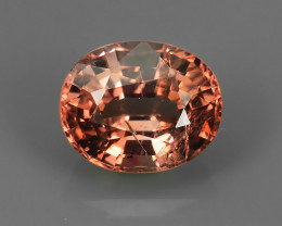 1.20 CT~BEAUTEOUS TOP UNHEATED ORANGE NATURAL SPINEL OVAL GEMSTONE SRILANKA