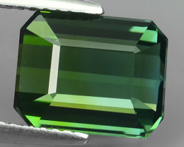 4.30 CTS GLISTENING OCTAGON NICE GREEN NATURAL TOURMALINE!!!