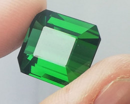 15.30 CARAT EMERALD CUT GREEN PARTY COLOR TOURMALINE FLAWLESS
