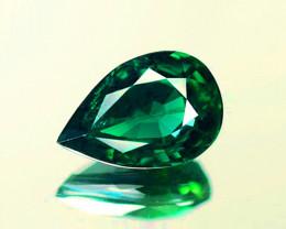 1.08 ct GLC Certified Unheated IF Bluish Green Green Sapphire