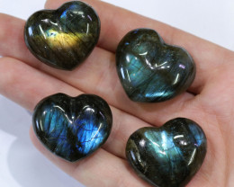 "289.50CTSLABRADORITE HEART PARCEL""ELECTRIC MIDNINGHT"" [STS1621]"