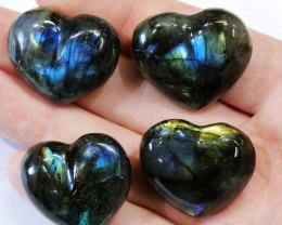 "305.10CTSLABRADORITE HEART  PARCEL ""ELECTRIC MIDNINGHT"" [STS1622]"