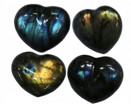 "285.75CTSLABRADORITE HEART  PARCEL ""ELECTRIC MIDNINGHT"" [STS1624]"