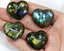 "284.10CTSLABRADORITE HEART PARCEL ""ELECTRIC MIDNINGHT"" [STS1626]"