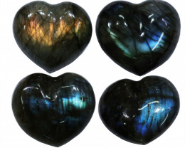 "293.05CTSLABRADORITE HEART PARCEL ""ELECTRIC MIDNINGHT"" [STS1627]"