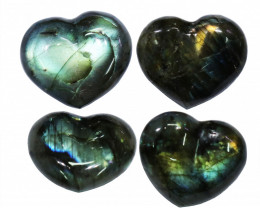 "284.65CTSLABRADORITE HEART  PARCEL ""ELECTRIC MIDNINGHT"" [STS1629]"