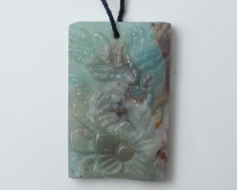 New Arrival ,Hand Craft Flower Pendant Bead ,Natural Amazonite Pendant C310