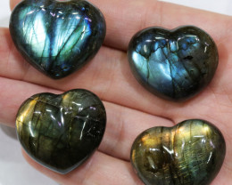 "305.30CTSLABRADORITE HEART  PARCEL ""ELECTRIC MIDNINGHT"" [STS1630]"