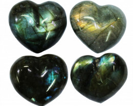 "294.75CTSLABRADORITE HEART  PARCEL ""ELECTRIC MIDNINGHT"" [STS1632]"
