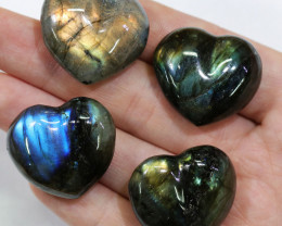 "293.95CTSLABRADORITE HEART  PARCEL ""ELECTRIC MIDNINGHT"" [STS1633]"