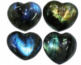 "295.00CTSLABRADORITE HEART  PARCEL ""ELECTRIC MIDNINGHT"" [STS1634]"