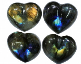 "290.55CTSLABRADORITE HEART  PARCEL ""ELECTRIC MIDNINGHT"" [STS1635]"