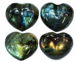 "282.45CTSLABRADORITE HEART  PARCEL ""ELECTRIC MIDNINGHT"" [STS1637]"