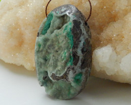 Nugget Hemimorphite Pendant Bead ,Raw Gemstone Pendant ,Wholesale Jewelry C