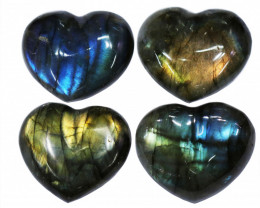 "287.20CTSLABRADORITE HEART  PARCEL ""ELECTRIC MIDNINGHT"" [STS1640]"