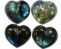 "268.90CTSLABRADORITE HEART  PARCEL ""ELECTRIC MIDNINGHT"" [STS1643]"