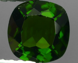 ~Eye Catching Natural Rich Green Chrome Diopside Cushion~