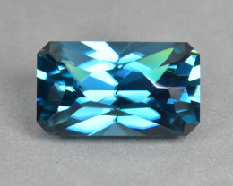 6.90 Cts Gorgeous Beautiful Cutting Natural Cambodian Blue Zircon