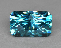 6.98 Cts Beautiful Attractive Cutting Natural Cambodian Blue Zircon