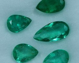 2.25cts 5 Pieces Fine Green Zambian Emerald Parcel