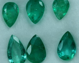 2.35cts 6 Pieces Fine Green Zambian Emerald Parcel