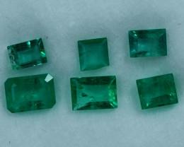2.00cts 6 Pieces Wonderful  Fine Green Zambian Emerald Parcel
