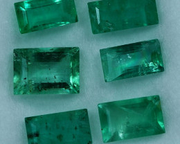 2.00cts 6 Pieces Gorgeous Fine Green Zambian Emerald Parcel