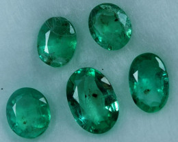 1.65cts 5 Pieces Spectacular Fine Green Zambian Emerald Parcel
