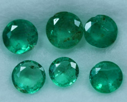 1.85cts 6 Pieces Stunning Fine Green Zambian Emerald Parcel