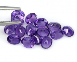 15 piece parcel of Jewellery Grade Amethyst gems 6.0 x 4.00mm each VVS