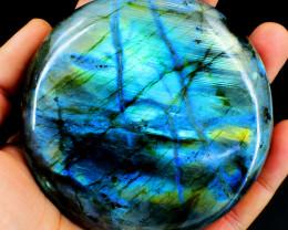 Genuine 1305.00 Cts Amazing Flash Labradorite Round Cabochon