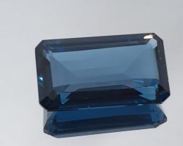 Big 31.3 Ct  London Blue Topaz Octagon 24x13.7mm
