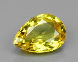 0.88 Carat Very Rare Yellow Color Sapphire Loose Gemstones