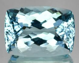 10.65 Cts Natural Blue Aquamarine Cushion Cut Santa maria - Brazil