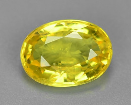 1.20 Carat Very Rare Yellow Color Sapphire Loose Gemstones