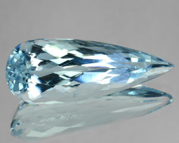 5.35 Cts Natural Blue Aquamarine Pear Cut Santa maria - Brazil