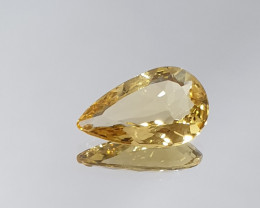2.28ct Heliodore Faceted  Pear Drop 13.3x8.3mm From Brazil (SKU 27)