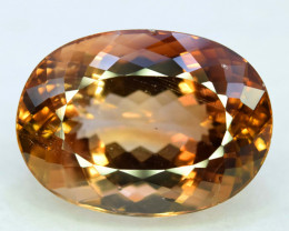 NR - Top Quality 29.80 Carats Oval Cut Champagne Color Topaz