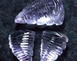 12.60cts Sparkle Pink Purplish Africa Amethyst Carving Gemstone