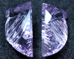 7.65cts Purplish Africa Amethyst Carving Gemstone