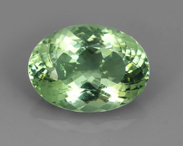 16.75 CTS ALLURING TOP GREEN PARTY COLOR EXECLLENT OVAL AMETHIYST BRAZIL!!