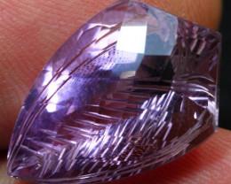 17.90cts Elegant Purplish Africa Amethyst Fancy Cutting Gemstone